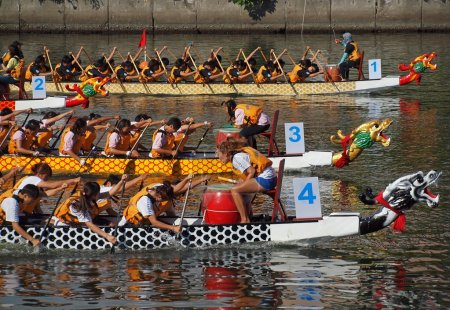 The 2013 Dragon Boat Festival in Kaohsiung, Taiwan