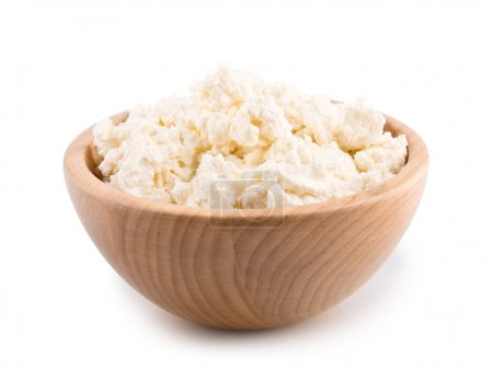Cottage cheese. Curd isolated on white (with clipp...