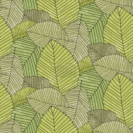 Illustration for Leafs pattern color - Royalty Free Image