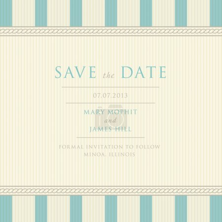 Save the Date with vintage background artwork