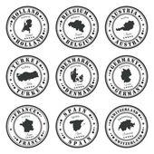 European stamps set