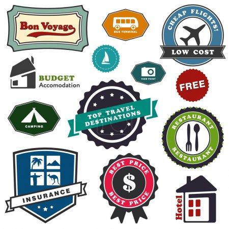 Ilustración de Etiquetas de viajes - Imagen libre de derechos