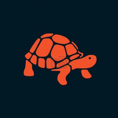 Orange Turtle Vector Illustration Art