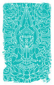 Buddha ornate vector illustration