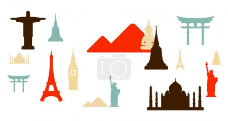 Photo pour Monuments de renommée mondiale fond - image libre de droit