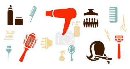 Hairdressing theme background