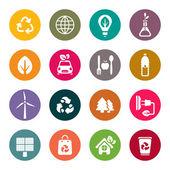 Eco theme icons set