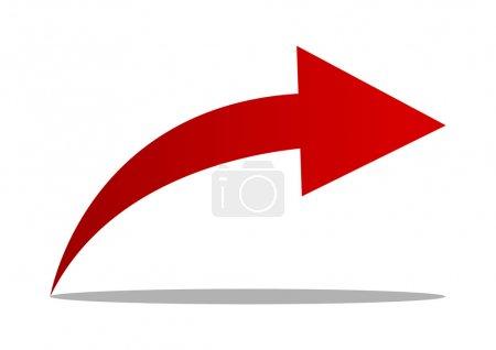 Illustration pour Flèche rouge - image libre de droit