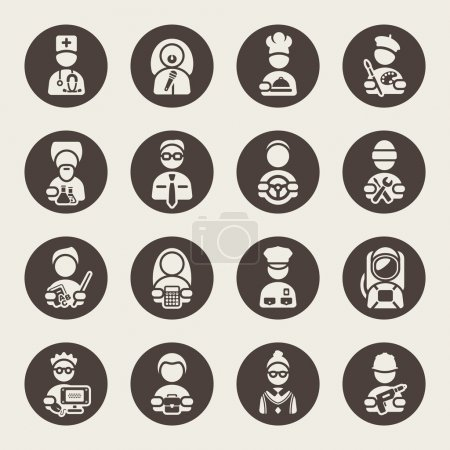 Professions icons set
