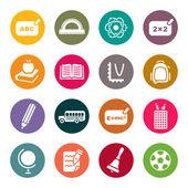 School theme icons set