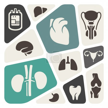 Illustration for Medical and anatomy theme background - Royalty Free Image