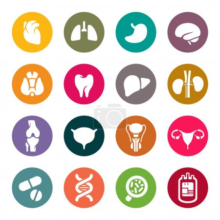 Illustration for Medical icons - Royalty Free Image