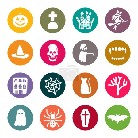 Halloween theme icons