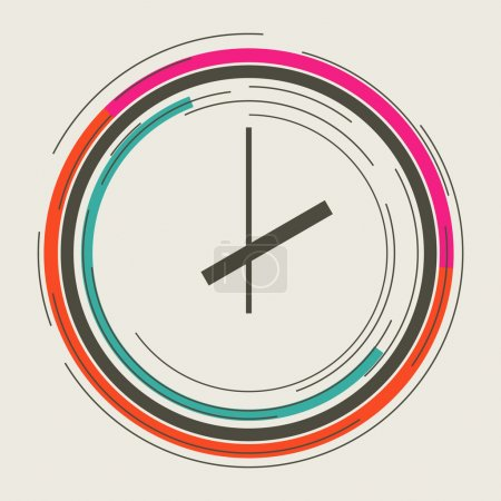 Illustration for Clock abstract icon - Royalty Free Image