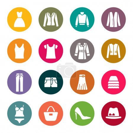 Illustration for Clothes icons - Royalty Free Image