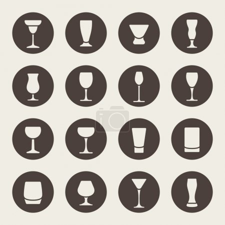 Drink glass icons
