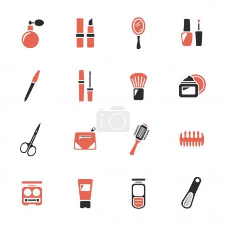Illustration pour Icônes beauté et maquillage - image libre de droit