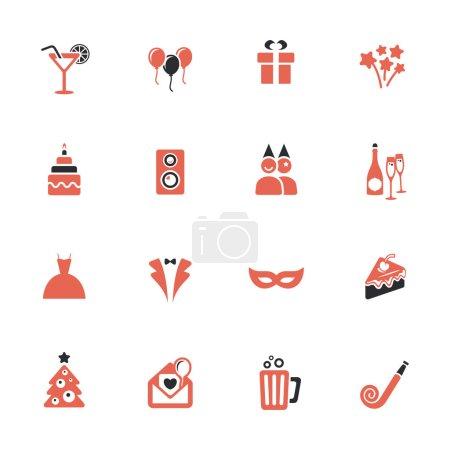 Illustration pour Icônes de fête - image libre de droit
