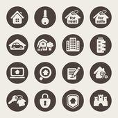 Real estate theme icons