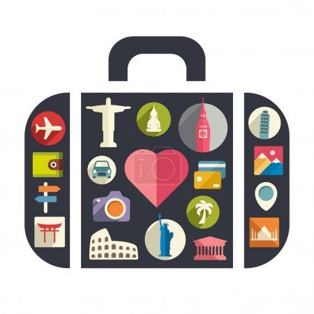 Illustration for I love travel - Royalty Free Image