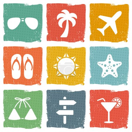 Illustration for Vacation icon set - Royalty Free Image