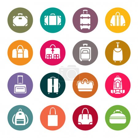 Baggage icon set