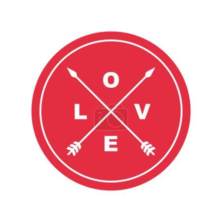 Illustration pour Emblème de l'amour - image libre de droit