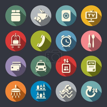 Illustration for Hotel services icons - Royalty Free Image