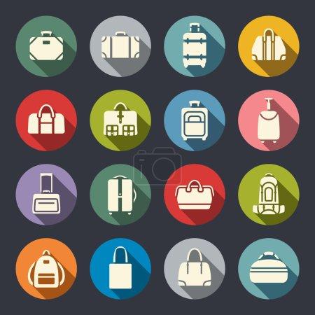 Illustration pour Ensemble d'icônes sacs - image libre de droit