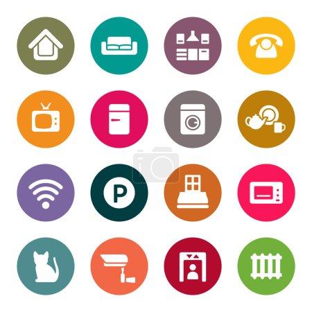 Home rental services icon set