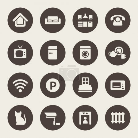 Home rental services icon set