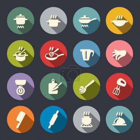 Illustration pour Ensemble d'icône de cuisson - image libre de droit