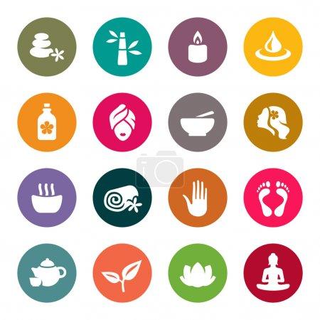 Illustration for Spa icon set - Royalty Free Image