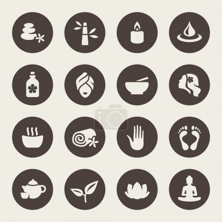 Illustration for Spa icon set - Royalty Free Image