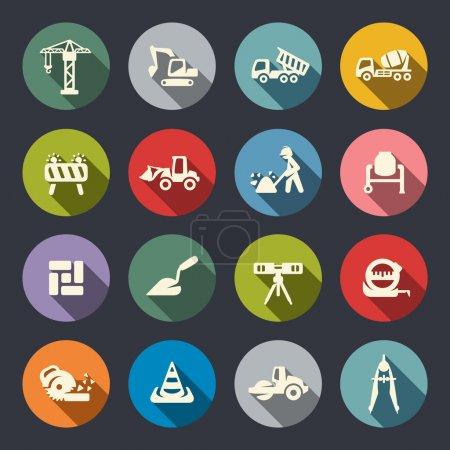 Illustration pour Ensemble d'icônes de construction - image libre de droit
