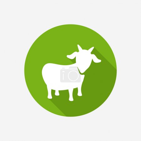Illustration for Goat icon on green - Royalty Free Image