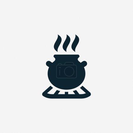 Illustration for Pot minimalistic icon - Royalty Free Image
