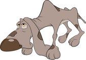 Lovecký pes. kreslený