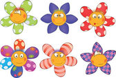 Cheerful small flowers Cartoon