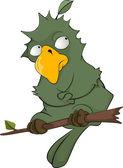 Parrot on a tree Cartoon