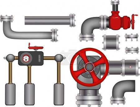 Illustration for Pipes. - Royalty Free Image
