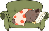 Sleeping mouse cartoon