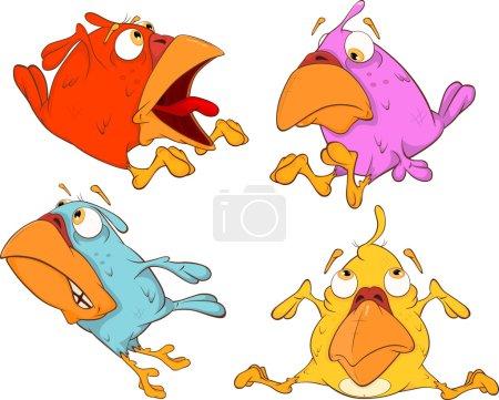 A set of birdies cartoon