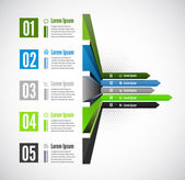 Vector 3d line arrow business concepts with icons