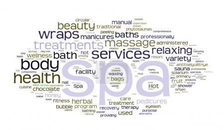 Illustration for Spa word cloud vector illustration on white - Royalty Free Image