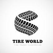 Tire tracks sign