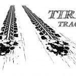 Tire tracks. Vector illustration on white backgrou...