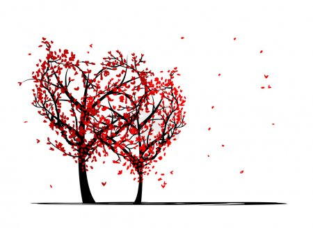 Illustration for Trees of love for your design - Royalty Free Image