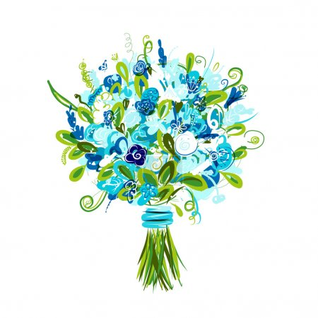 Illustration for Floral bouquet for your design - Royalty Free Image