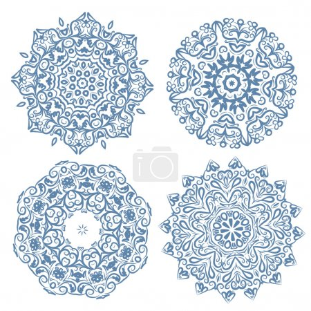 Illustration for Set of arabesque ornament for your design - Royalty Free Image